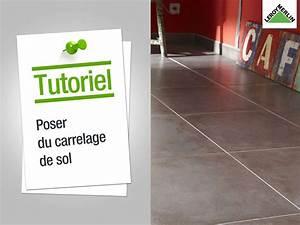 Percer Dans Du Carrelage : comment poser du carrelage de sol leroy merlin youtube ~ Dailycaller-alerts.com Idées de Décoration