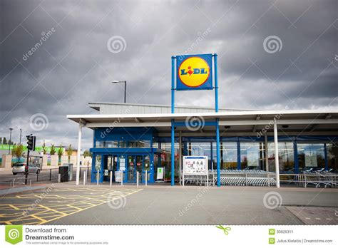 Lidl Store In Manchester, Uk Editorial Photo
