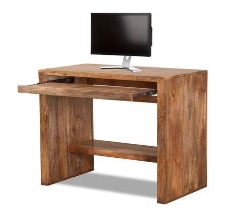 natural wood desk top satara natural mango computer desk desks computer desks