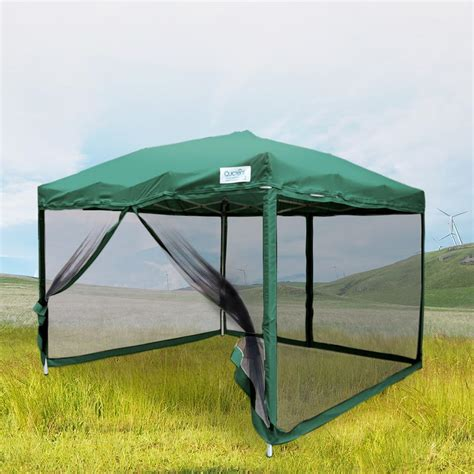 canopy with screen quictent 10x10 8x8 pop up gazebo tent canopy mesh