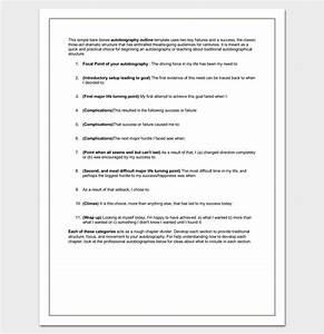 Outline Autobiography Autobiography Outline Template 23 Examples And Formats
