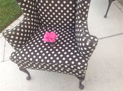 polka dot wing back century chair by retrodaisygirl