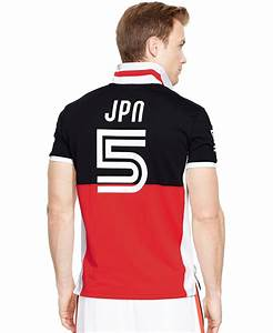 8ff2e8b2 lyst polo ralph lauren polo sport japan performance mesh polo in red for men
