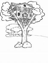 Coloring Tree Treehouse Pages Elevator Magic Drawing Annie Fairy Jack Magical Template Printable Getcolorings Getdrawings Gladiators Line Templates sketch template