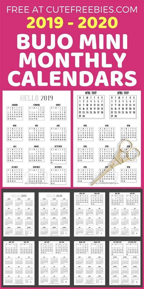 bullet journal calendar printable stickers