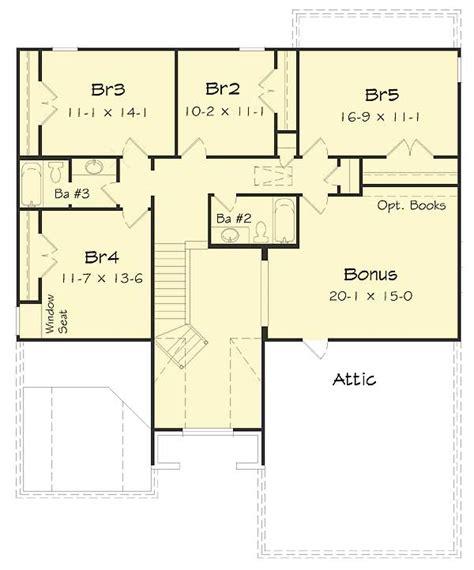 5 bedroom house plans with bonus room five bedrooms plus a bonus room 68035hr architectural