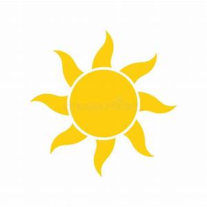 Simple sun icon stock vector. Illustration of glare, light ...