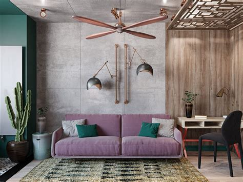 colourful boho industrial style  moroccan accents
