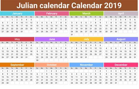 julian calendar printable month calendar