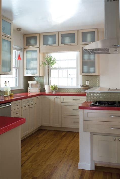Delorme Designs Seeing Red!! Red Countertops