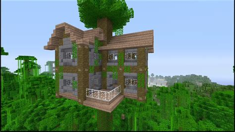 How To Build A Large Jungle Tree House In Minecraft-youtube