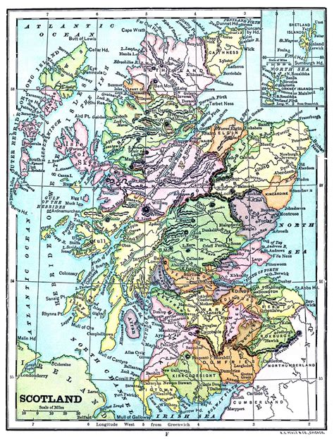 instant art printable map  scotland  graphics fairy