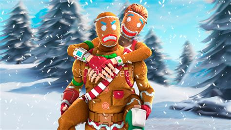 fortnite gingerbread wallpapers wallpaper cave