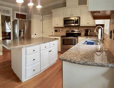 white dove kitchen  cabinet girls