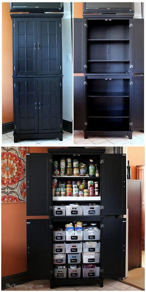 instant diy pantry cabinet  easy kitchen storage
