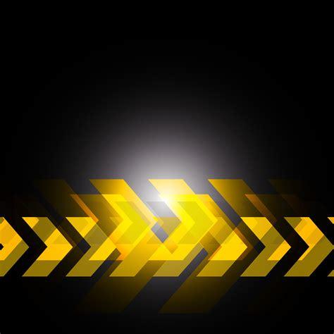 yellow arrow  black background   vectors