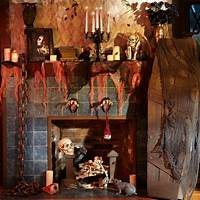 scary halloween decorating ideas 23 Best Ideas For Halloween Decorations Fireplace and Mantel
