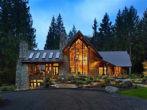 Rustic Contemporary Home Nestled In Secluded Forests Of
