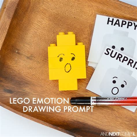 lego emotion drawing activity for and next comes l