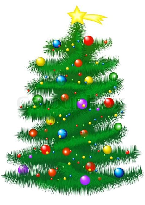 christmas tree illustration stock photo colourbox