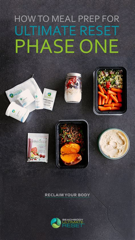How to Meal Prep for Ultimate Reset (Phase One) The