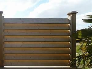 Panneau De Jardin Pas Cher : montants palissade bois persienne cloture occultant ~ Premium-room.com Idées de Décoration