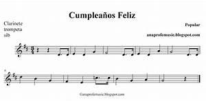 AnaProfeMusic: Partitura Cumpleaños Feliz
