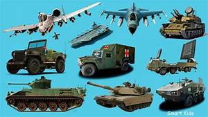 Learn Military Vehicles For Children In English