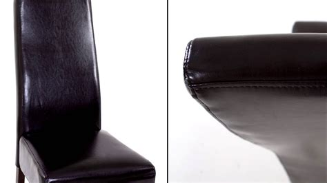 housse de chaise en simili cuir 28 images set de 4 chaises de salle 224 manger en simili