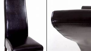 Recouvrir Un Canapé En Cuir : beliani chaise de salle manger en cuir empire brun ~ Premium-room.com Idées de Décoration