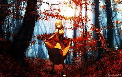 Anime Fantasy Fall Wallpapers Nature Paintings Landscapes