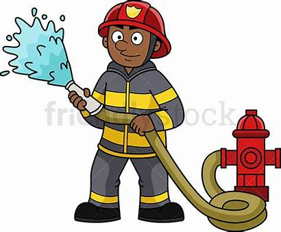 Firefighter Fireman Clipart Cartoon Clip Printable Cliparts