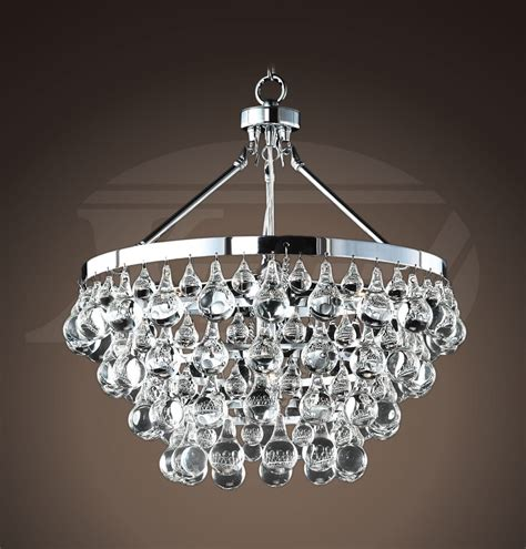 Modern Chrome Chandelier by Modern Contemporary Style Glass 5 Light Luxury