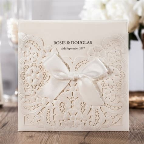 cheap wedding invitation card  laser cut embossed