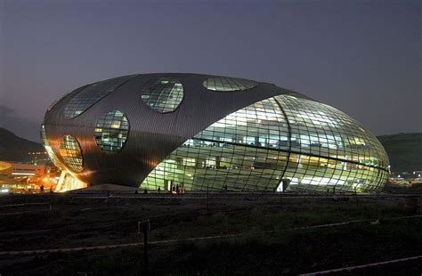 Hafeez Contractor Infosys Pune   Exterior at Night   Pune