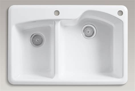 white enamel kitchen sink kohler k 5870 2 0 wheatland self offset 1293