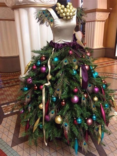 details  female mannequin torso  christmas tree