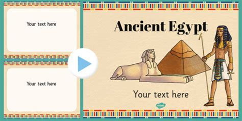 Egypt Templates Powerpoint by Ancient Egypt Themed Powerpoint Template Ancient Egypt Ppt