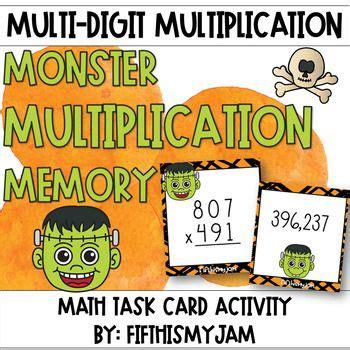 multiplication game monster memory  images