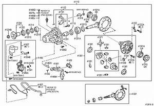 Toyota Tacoma Actuator  Differential Lock Shift  Rear