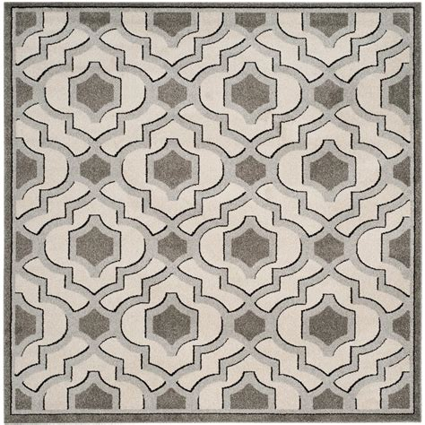 7 square area rug safavieh amherst ivory gray 7 ft x 7 ft indoor outdoor