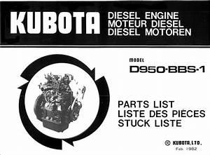 Kubota Diesel Engine D950 Parts List Pdf Download