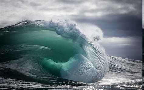 nature landscape sea waves tunnel water clouds