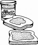 Peanut Butter Coloring Sandwich Jelly Sheet Sketch Pb Clip Drawing Military Amp Popular Colouring Template Logos Library Clipart sketch template