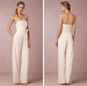 combinaison pantalon femme chic en 23 idees de mariage With robe pour mariage cette combinaison collier or blanc