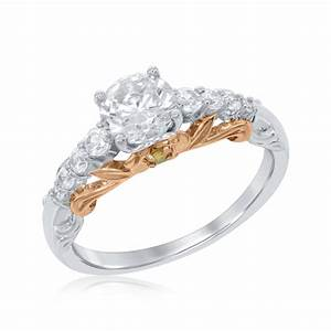 belle rose engagement ring in 14k white and rose gold With belle wedding ring