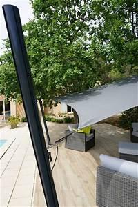Voile Pour Terrasse : un mat pour voile d 39 ombrage de terrasse r glable et facile ~ Premium-room.com Idées de Décoration