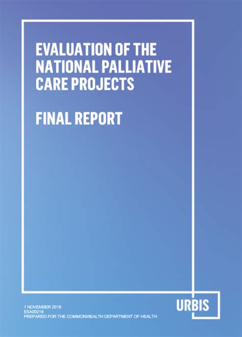 Evaluation of the National Palliative Care Projects Final ...