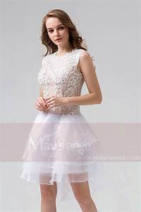 robe blanche courte en dentelle pour demoiselle d39honneur With robe demoiselle d honneur dentelle