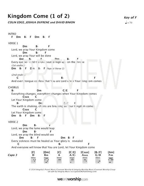 kingdom  lead sheet lyrics chords covenant
